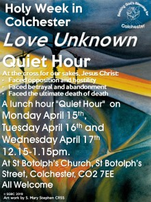 Holy Week Quiet Hour 2019